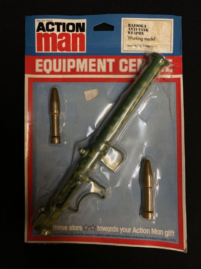 VINTAGE ACTION MAN - Equipment Centre - Bazooka - Carded (1)